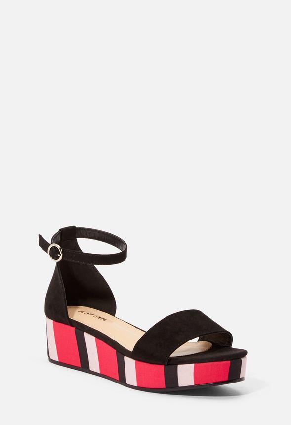 b8d083af6f1 Shawna Flatform Wedge in pink stripe black - Get great deals at JustFab