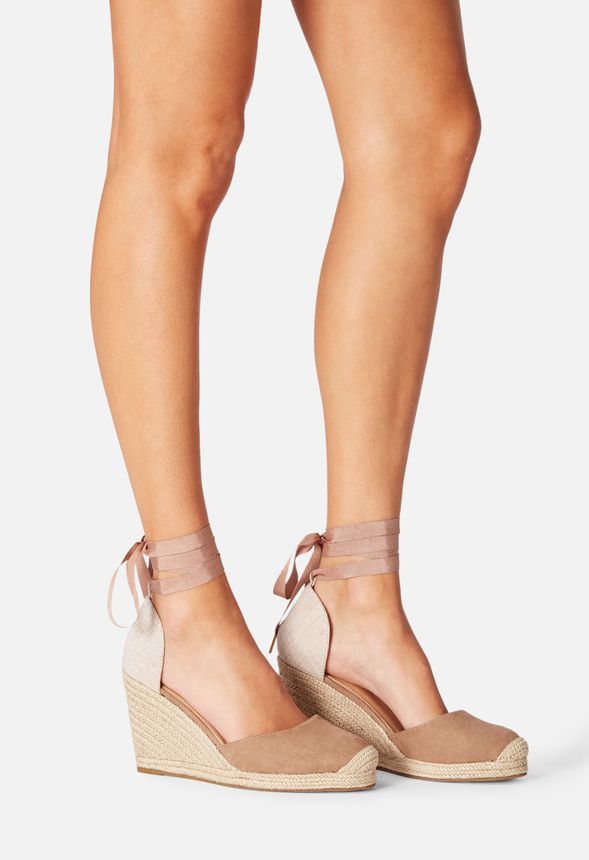 4de4ea92a78 Nicoletta Espadrille Wedge in Taupe - Get great deals at JustFab