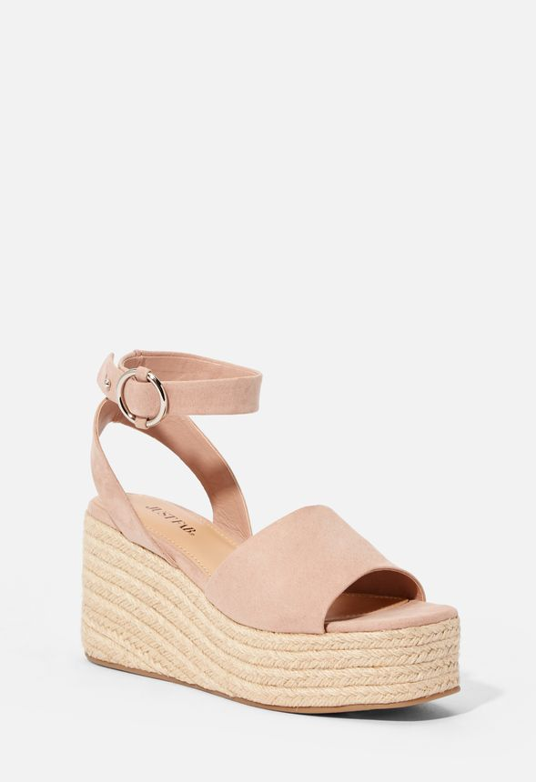 9b60c644637 Weekend Plans Wedge in Blush - Get great deals at JustFab
