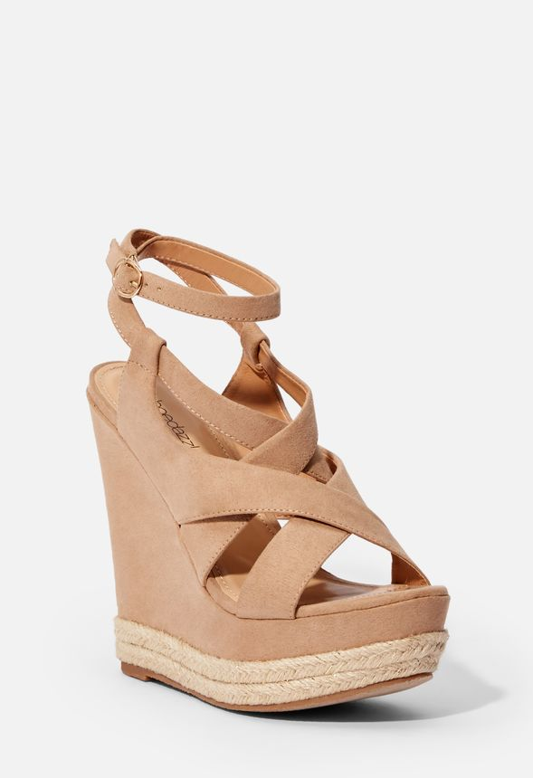 0cea64977a0 Carmella Strappy Espadrille Wedge in Nude - Get great deals at JustFab