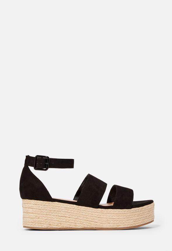 e0389622a7a64 Elsie Espadrille Wedge in Black - Get great deals at JustFab