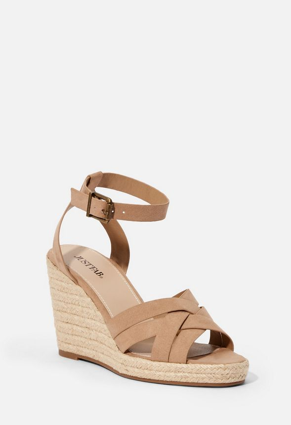3d1fdee6500 Parker Espadrille Wedge in Taupe - Get great deals at JustFab
