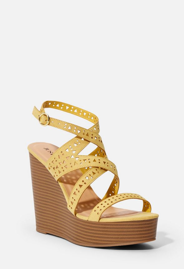 95e5d859c Escapade Strappy Wedge in Golden Spice - Get great deals at JustFab