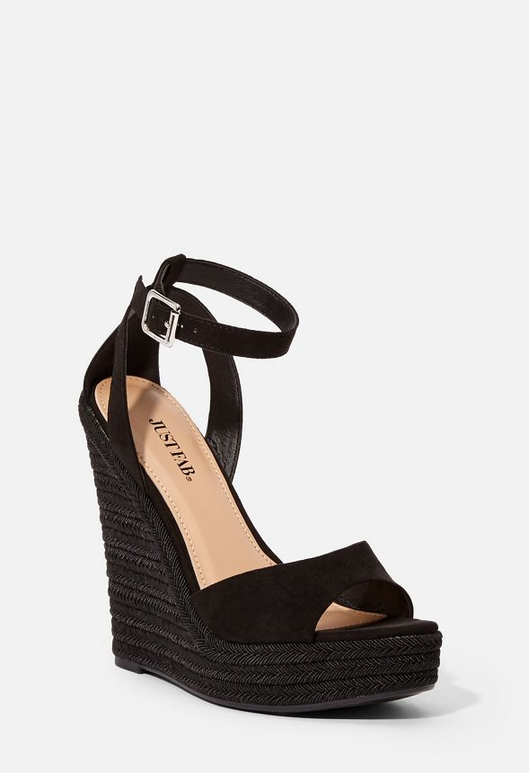 a028ba9d436 Tally Espadrille Wedge in Black - Get great deals at JustFab