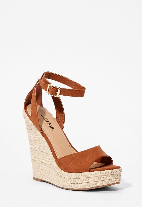 18591a76eb9 Tally Espadrille Wedge in Cognac - Get great deals at JustFab
