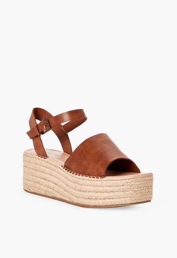 227d5b745 Hallie Espadrille Flatform Sandal in Tan - Get great deals at JustFab