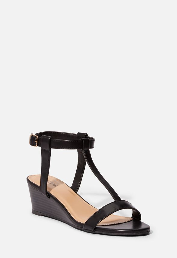 Iris Strap Great Black Deals T Justfab In Wedge Sandal Get At rxedCBo