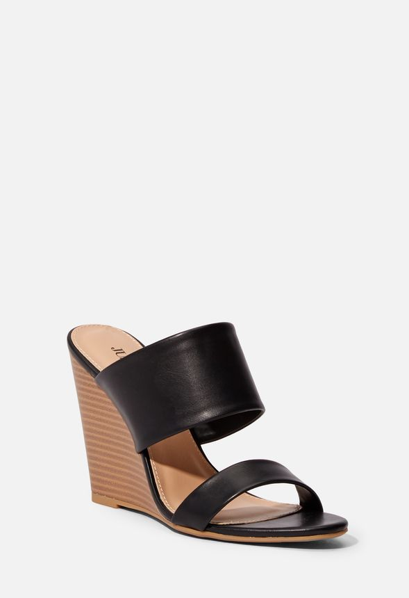 06b3e60a07 Katie Backless Wedge Sandal in Black - Get great deals at JustFab