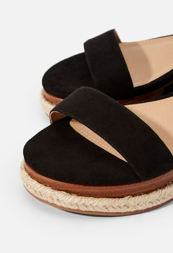 8c5f6938d11 Aloha Ankle Tie Wedge in Black - Get great deals at JustFab