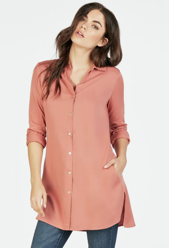 f819bf449ee Button Down Tunic in Button Down Tunic - Get great deals at JustFab