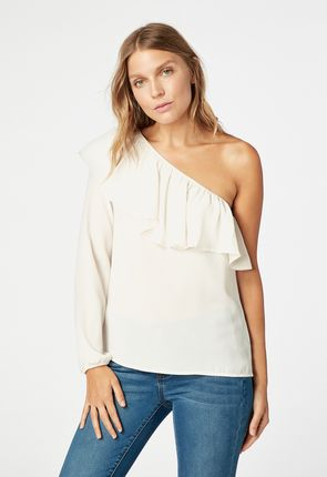 0e0a2e0f996de Smocked Top in WINTER WHITE - Get great deals at JustFab