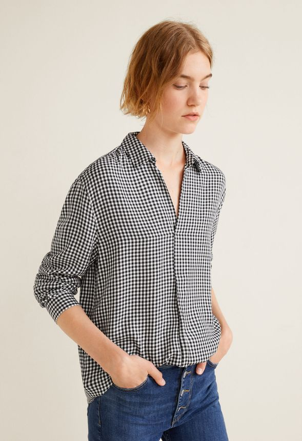 d7ccc5ff0e6782 Checkered Button Down Shirt in Black Multi - Get great deals at JustFab