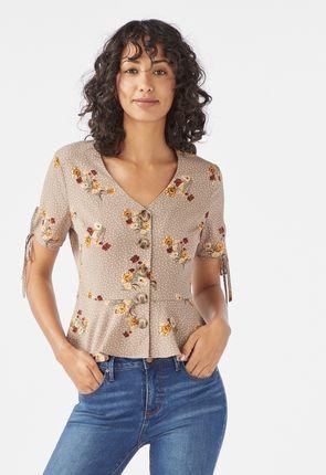 c877edc0 Sleeveless Peplum Sweater in Nude Blush - Get great deals at JustFab