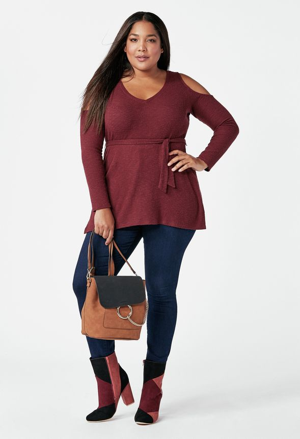 3b6df28ffc7 Tones of Burgundy Outfit Bundle in Tones of Burgundy - Get great deals at  JustFab