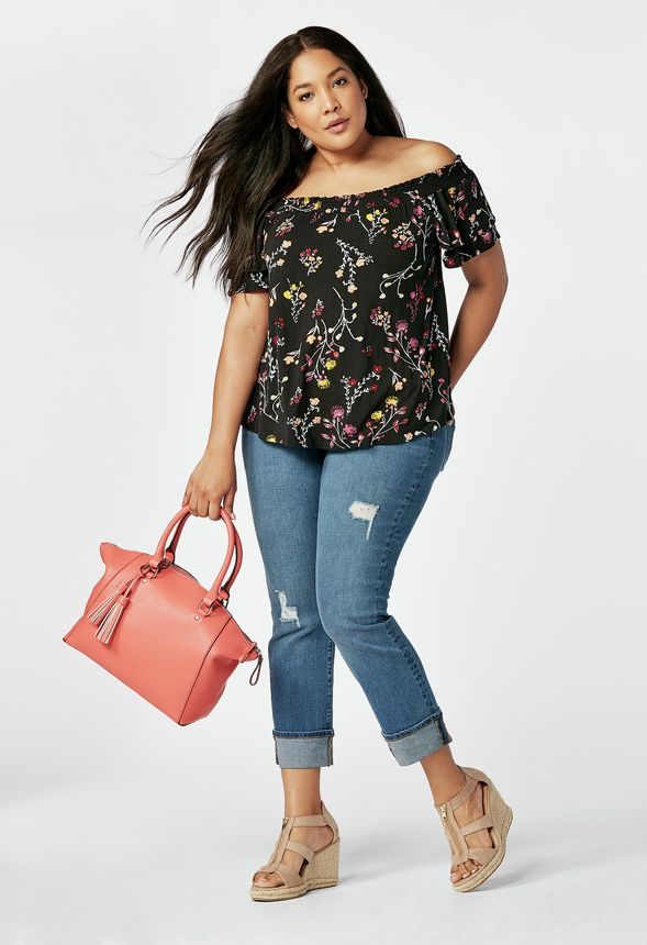 47adcdec38795 Floral Off The Shoulder Outfit Bundle in Floral Off The Shoulder - Get  great deals at JustFab