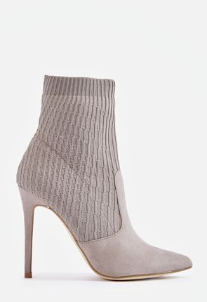 a2e01f6cc23e Stay on trend with grey ankle boots for a hip and stylish look. Our chic  faux suede and leather styles are affordable and made with quality.