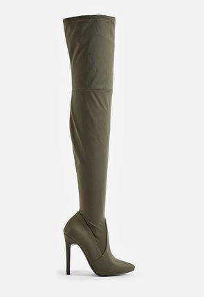 aa827461ce59 Try women's green boots with a little black dress or wear them with  fold-over cuffs when heading out on the town.