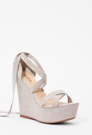 955e3c1b4a6865 Silver Wedges - Shoes